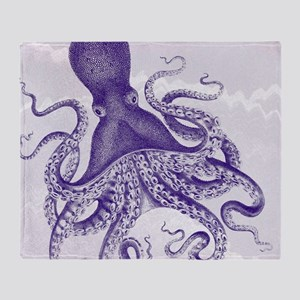 Exquisite Deep Indigo Ancient Octopus on marbling