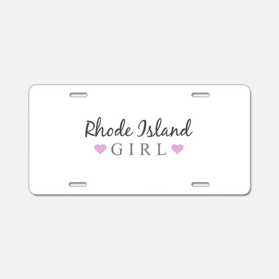 Rhode Island Girl Aluminum License Plate