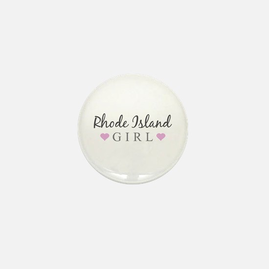 Rhode Island Girl Mini Button