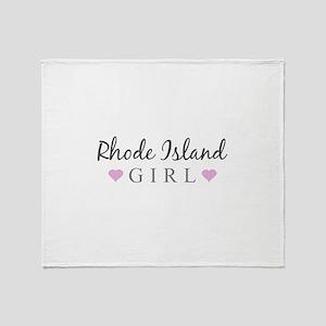 Rhode Island Girl Throw Blanket