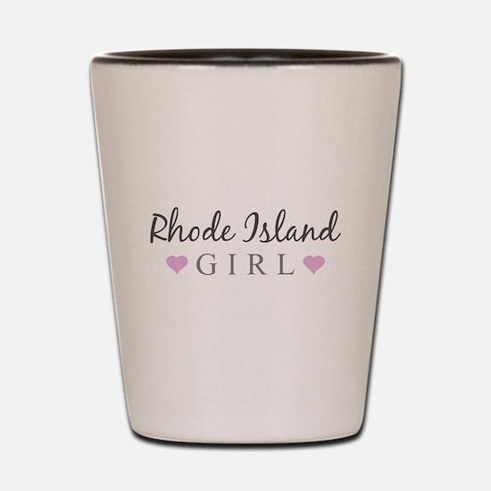 Rhode Island Girl Shot Glass