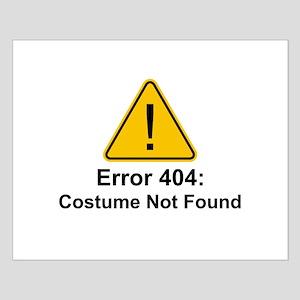 Error 404 Halloween Costume Not Found Posters