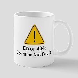 Error 404 Halloween Costume Not Found Mugs