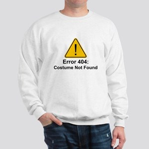 error 404 halloween costume not found sweatshirt