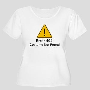 Error 404 Halloween Costume Not Found Plus Size T-