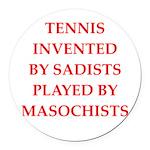 tennis Round Car Magnet