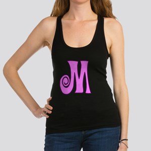 Girly Pink Purple Big M Racerback Tank Top