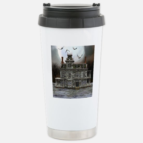 Halloween House Stainless Steel Travel Mug