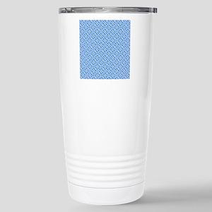 Greek Key Pattern Stainless Steel Travel Mug