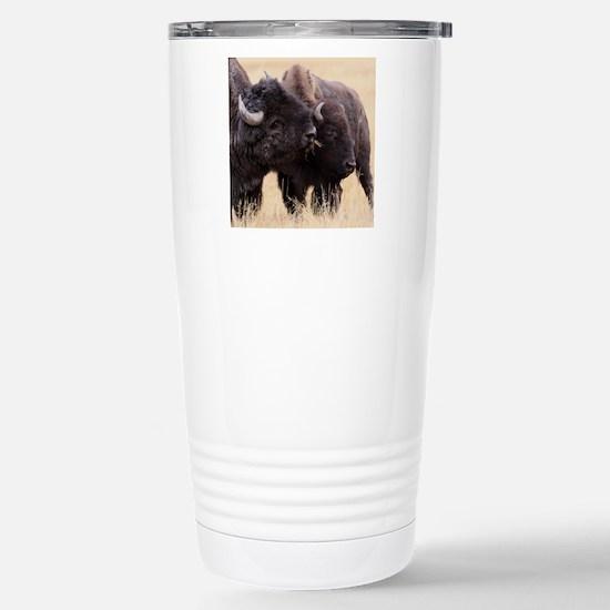bison friendship Stainless Steel Travel Mug