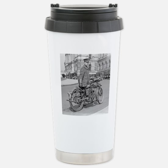 Motorcycle Police Offic Stainless Steel Travel Mug