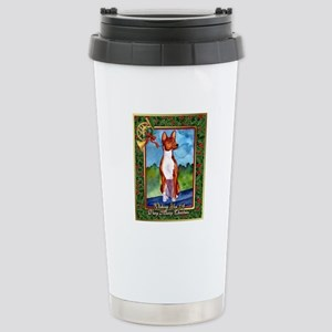 Basenji Dog Christmas Stainless Steel Travel Mug
