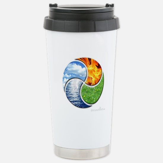 Four Elements Ying Yang Stainless Steel Travel Mug
