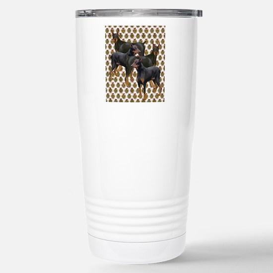 doberman grouping Stainless Steel Travel Mug