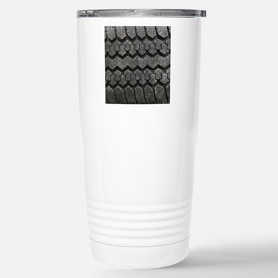 Tire Tracks Stainless Steel Travel Mug