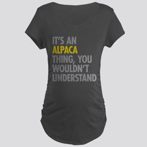 Its An Alpaca Thing Maternity Dark T-Shirt