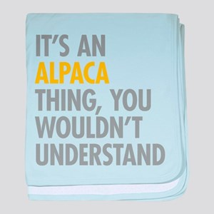 Its An Alpaca Thing baby blanket