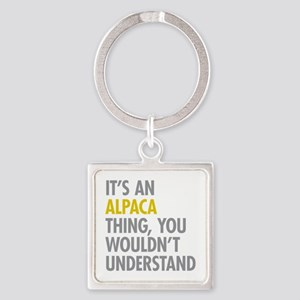 Its An Alpaca Thing Square Keychain