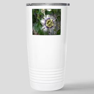 Purple fuzzyflower Stainless Steel Travel Mug