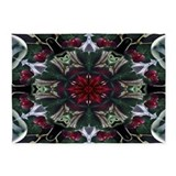 Christmas berry wreath 5x7 Rugs
