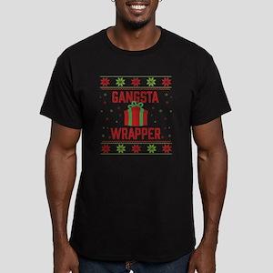 Gangsta Wrapper Men's Fitted T-Shirt (dark)