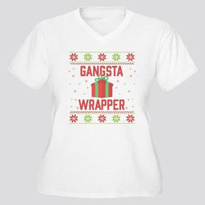 Gangsta Wrapper Women's Plus Size V-Neck T-Shirt