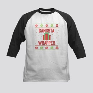 Gangsta Wrapper Kids Baseball Tee