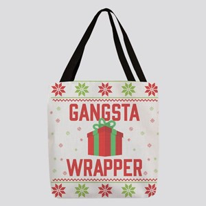 Gangsta Wrapper Polyester Tote Bag