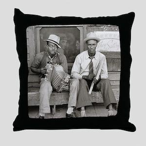 Street Musicians, 1938 Throw Pillow