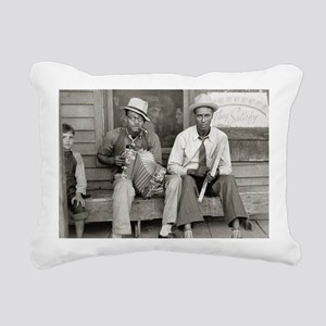 Street Musicians, 1938 Rectangular Canvas Pillow