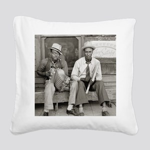 Street Musicians, 1938 Square Canvas Pillow