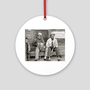 Street Musicians, 1938 Round Ornament