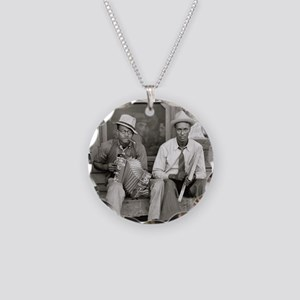 Street Musicians, 1938 Necklace Circle Charm
