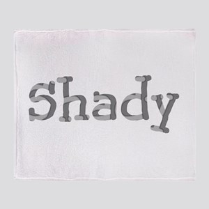 Funny Shady Sarcasm Font Throw Blanket