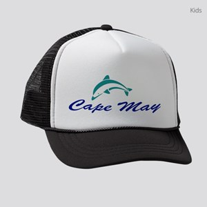 Cape May with Dolphin Kids Trucker hat