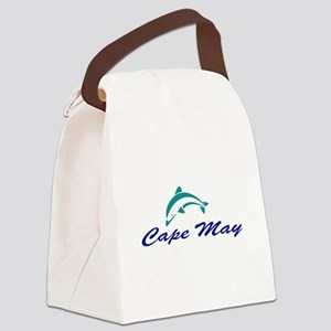 Cape May with Dolphin Canvas Lunch Bag