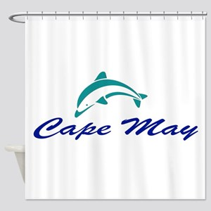 Cape May with Dolphin Shower Curtain