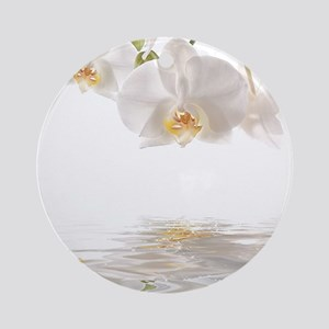Orchids Reflection Ornament (Round)