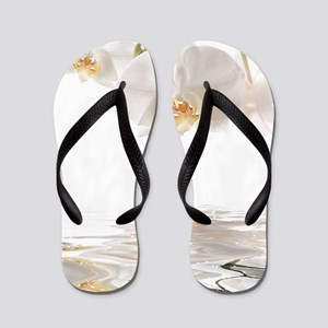 Orchids Reflection Flip Flops