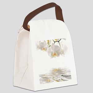 Orchids Reflection Canvas Lunch Bag
