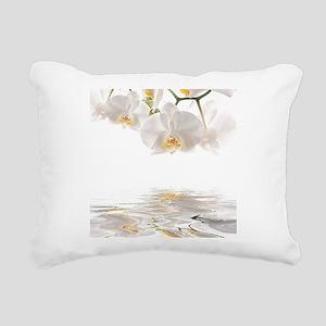 Orchids Reflection Rectangular Canvas Pillow