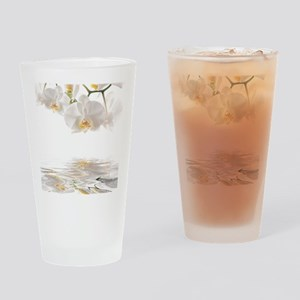 Orchids Reflection Drinking Glass