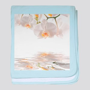 Orchids Reflection baby blanket