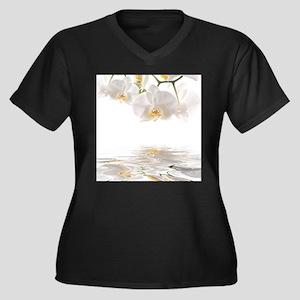 Orchids Reflection Plus Size T-Shirt