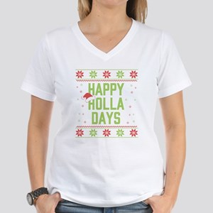Happy Holla Days Women's V-Neck T-Shirt