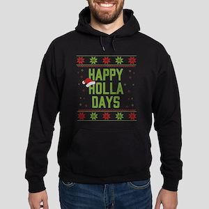 Happy Holla Days Hoodie (dark)