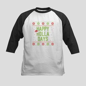 Happy Holla Days Kids Baseball Tee