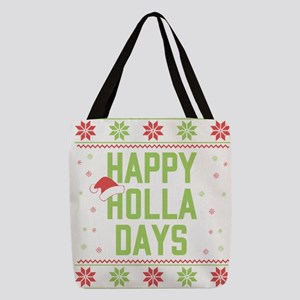 Happy Holla Days Polyester Tote Bag