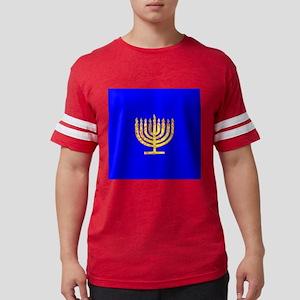 Blue Glowing Chanukah Menorah Debbie's Fav T-Shirt