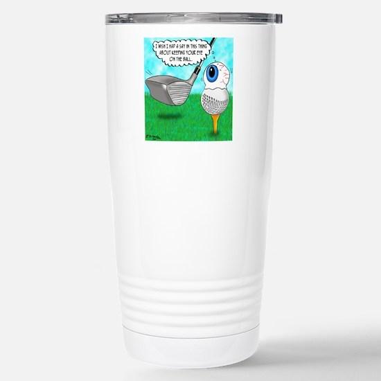 Keep Your Eye on the Ba Stainless Steel Travel Mug